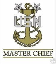 NAVY MASTER CHIEF PETTY OFFICER STICKER WINDOW DECAL - $13.53