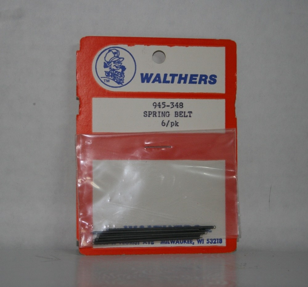 Walthers 945-348, Spring Belt 6 Pack, New