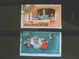 Panama Set of 2 Stamps MINT -canceled - MNH Free Shipping # 001738 - $1.68