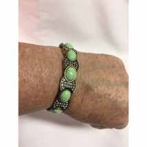 J Crew Light Green Stone and Gold Stretch Bracelet - $29.70