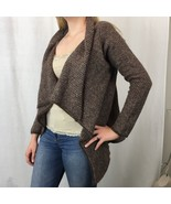 Chiaramente Womens Cardigan Sweater Drape Brown Italian Wool Alpaca Blen... - $31.79