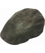 Henschel Cowhide Driver Cap New Shape Plaid Sweatband And Lining Brown - $44.00