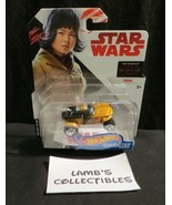 Star Wars The Last Jedi Hot Wheels character cars Rose die cast vehicle - $14.23