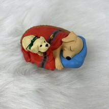 Hallmark Keepsake Christmas Ornament 1993 Wake Up Dad Golden Labrador Do... - $6.89