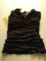 Michael Kors Navy Swimwear Top Size Small image 1