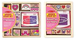 Melissa and Doug 2-Pack Stamp Set Bundle - Friendship Stamp Set with Butterfly a - $13.81