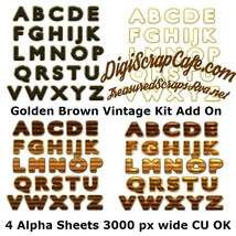 Golden Brown Vintage Alpha Add On Kit - $2.99