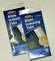 Tabbies Mini Gold-Edged Bible Indexing Tabs Old & New Testament 80 Tabs ... - $8.90