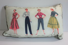 "Simplicity Sewing Vintage 20"" x 12"" Accent Pillow with Piping - $24.18"