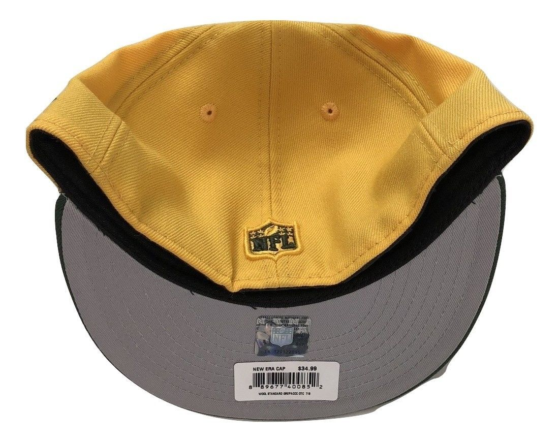 NWT New Green Bay Packers New Era 59Fifty Heritage Series Wool 7 1/8 Fitted Hat image 2