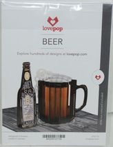 Lovepop LP2113 Beer Pop Up Card Slide Out Note White Envelope Cellophane wrapped image 6