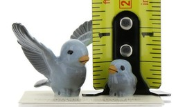 Hagen Renaker Miniature Bluebird Tweety Pa and Chick Ceramic Figurine Set of 2 image 2