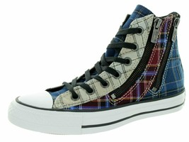 Converse Women's Chuck Taylor All Star Hi Dual Zip Plaid Red/Blue/White 549575C - $31.67+