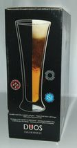Luigi Bormioli DW0302 Duos Pilsner Glasses Set of 2 Thermo Wall Color Clear image 3