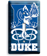 DUKE UNIVERSITY BLUE DEVILS BASKETBALL TEAM SINGLE LIGHT SWITCH WALL PLA... - $8.99