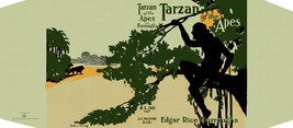 Burroughs, Edgar Rice. TARZAN OF THE APES facsimile dust jacket 1st McCl... - $21.56