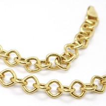 18K YELLOW GOLD CHAIN SQUARE LINK 5 MM, 16.5 INCHES, MADE IN ITALY image 2
