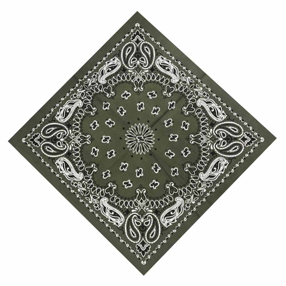 55*55cm Hip Hop Cotton Paisley Bandanas Head Wrap Black Red White etc 10 colors  image 5