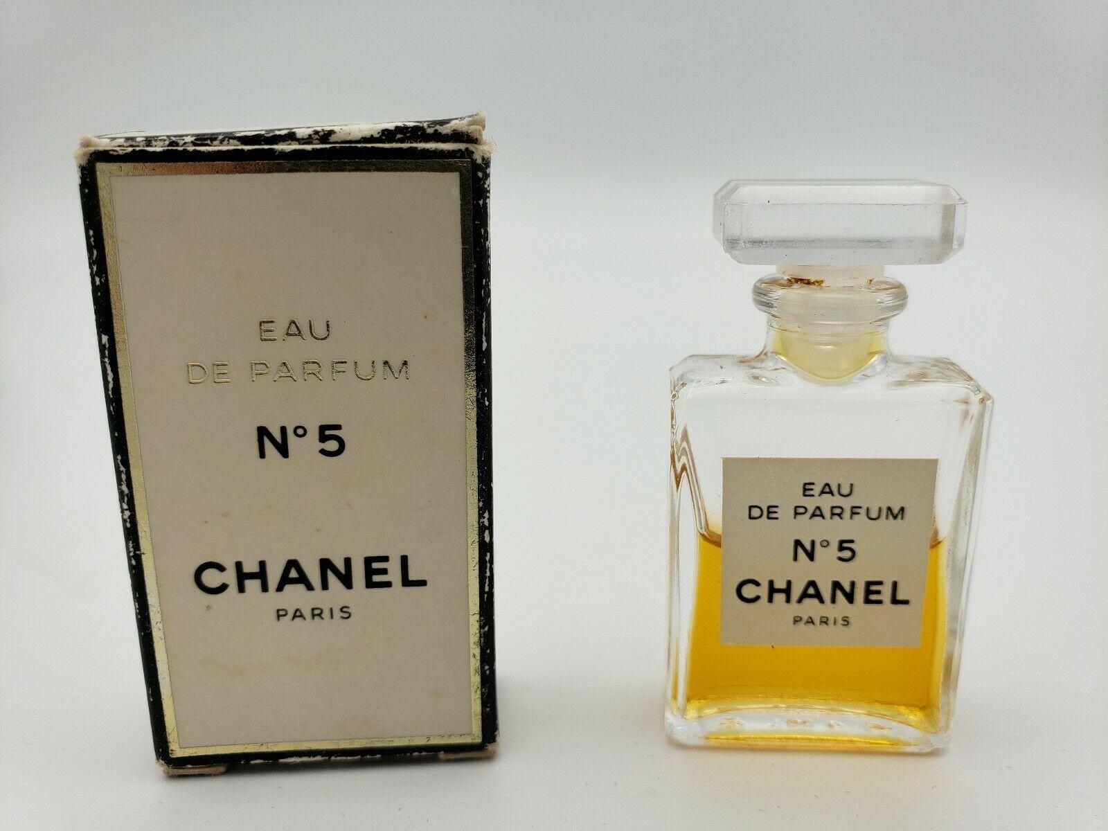 CHANEL NO. 5 Mini Miniature Eau de Parfum 60% Full Perfume .13 Oz w/ Box Vintage