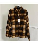 Ram King Men's Polar Fleece Jacket Brown Large - $18.81