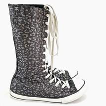 Converse All Star Chuck Taylor Super High Top Zipper Tall Junior 5 Black Cheetah - $37.14