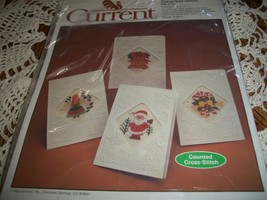 Current Counted Cross-Stitch Christmas Cards (Set of 4) Code 7145-1 - $16.00
