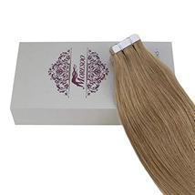Moresoo 20 Inch Tape in Extensions Remy Human Hair Glue in Hair Extensions Human image 3
