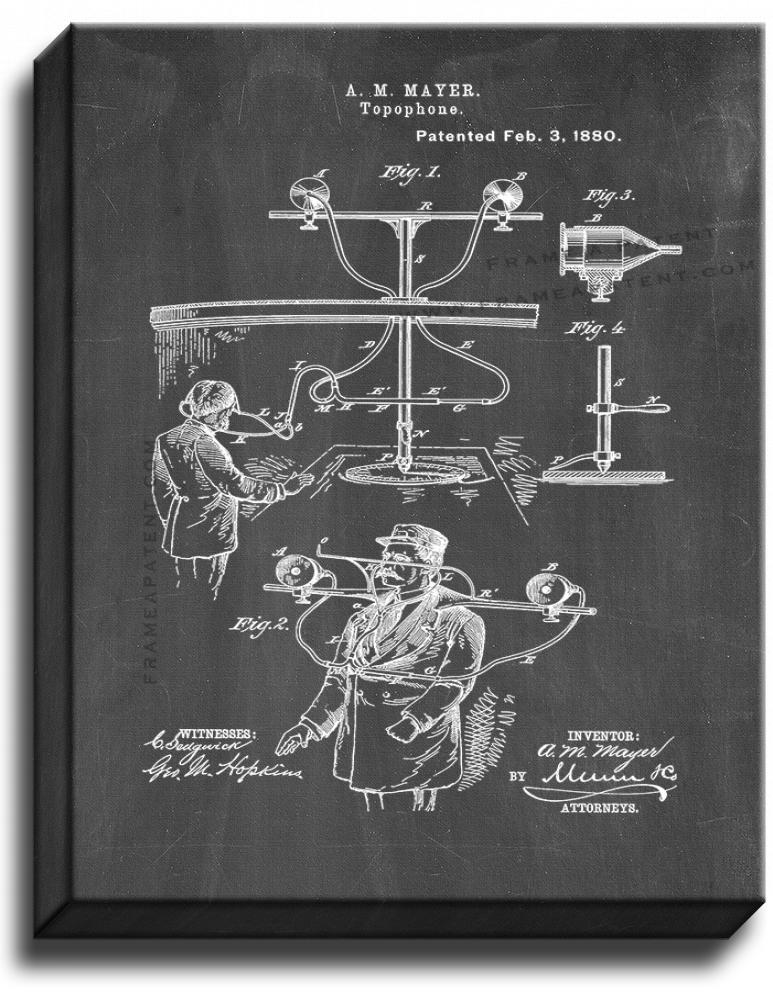 Primary image for Topophone Patent Print Chalkboard on Canvas