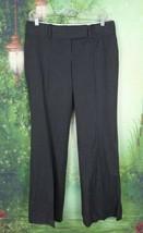 Ann Taylor Petites 4 4P Dark Gray Striped Stretch Wool Blend Dress Pants... - $18.80