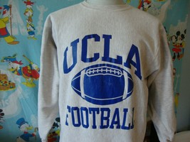 Vintage 90's UCLA Bruins football Champion Reverse Weave Sweatshirt XL  - $49.49