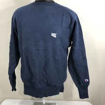 VTG Champion Reverse Weave Sweatshirt Warm Up Jumper Crew Neck Navy Blue... - $21.60