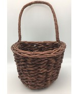Flat Back Hanging Wicker Basket Country Farmhouse for Wall or Door Display - $24.95