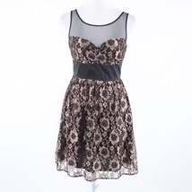 Brown floral print lace ANTHROPOLOGIE FROCK! BY TRACY REESE A-line dress 2 - $59.99