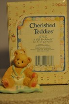Cherished Teddies - A Gift to Behold - 127922 - Baby Boy on Quilt - $11.18