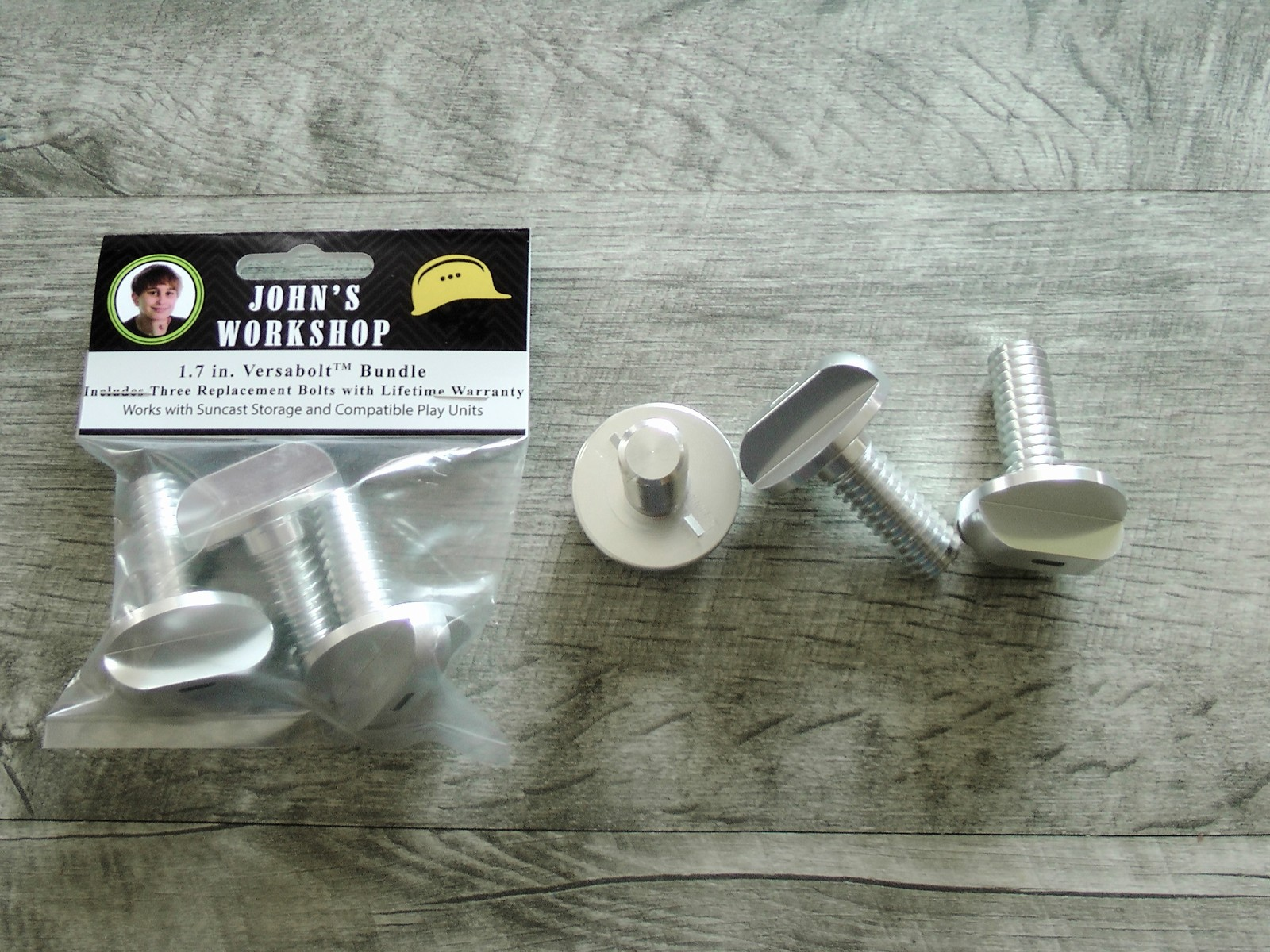"Primary image for 1.7"" Versabolt Three Replacement Bolt Bundle with Lifetime Guarantee - Suncast"