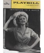 "The Music Box Theatre Playbill ""Invitation to a March"" December 1960 Art... - $1.75"