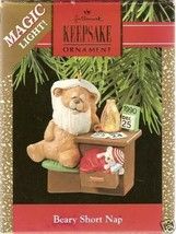 Hallmark 1990 Beary Short Nap Lighted Ornament - MIB - $15.95