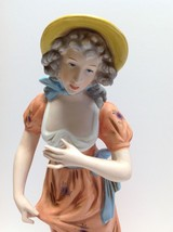 "Rare Vintage Enesco Japan Porcellain Lady Victorian Very Tall 15 1/2"" In... - $19.79"