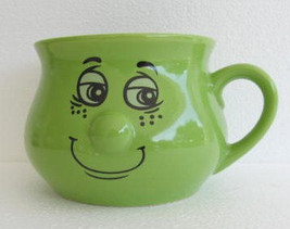 "The Happy Face 3D Nose"" Have A Good Time"" Lime Green Color Novelty Ceram... - $15.99"