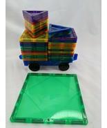 Children's Hub Magnetic Tiles Shapes Vehicle Toy 35 Pcs - $26.95