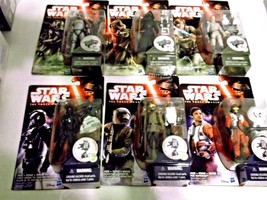 "Star Wars The Force Awakens Set of 6, 3.75"" Figures Jungle Space Wave 1 ... - $30.59"