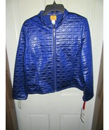 NWT ($64) Ruby Rd Blue Quilted Polyester Ladies Jacket-Spellbound-Size 12 - $39.95