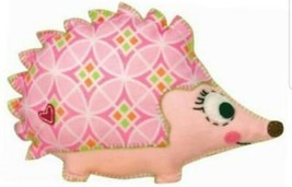 Dimensions Baby Pillow Kit  Happi Hedgehog  Pink Nursery felt applique c... - $14.84