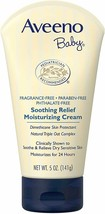 Aveeno Baby Soothing Relief Moisture Cream Fragrance Free 5 Oz (Pack of 2) - $10.39