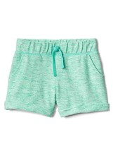 New Gap Kids Girls Green French Terry Roll Tie Textured Shorts 4 5 6 7 14 16 - $17.95