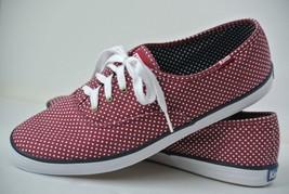 NEW Keds Womens Sz 10 M Red & White Polka Dot Canvas Fashion Sneakers 53431 - $38.60