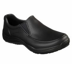 77165 Black Skechers shoe Work Safety Men Slip Resistant Slipon Vegan Li... - $39.99