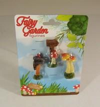 Fairy Garden Mini Figurines 3 Pack Welcome Sign Mushroom Mailbox Accesso... - $3.99