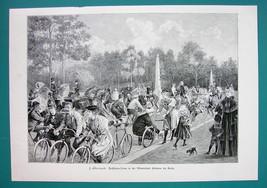 BICYCLE Promenade Villenkolonie Halensee in Berlin - VICTORIAN Era Print - $16.20
