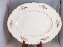 """Homer Laughlin M207 Marigold Springtime Floral Gold Filigree 13.5"""" Oval ... - $15.67"""